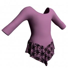 Body danza con gonnellino in belen pro maniche 3/4 SK714LCB406