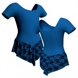 Body danza con gonnellino in belen pro manica corta SK714LCB407