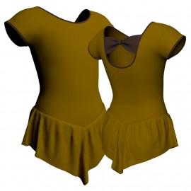 Body danza con gonnellino maniche aletta SK714LCL210