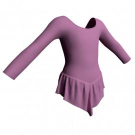 Body danza con gonnellino maniche lunghe SK714LCL405