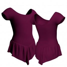 Body danza con gonnellino maniche aletta SK714LCL408