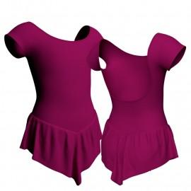 Body danza con gonnellino maniche aletta SK714LCL414