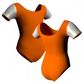Body danza manica corta con inserto in lurex PLX407T