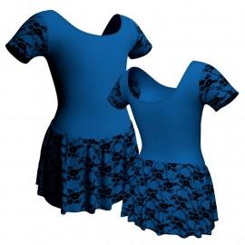 Body danza manica corta con inserto belen pro e gonnellino in belen pro SK1LBB407T