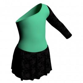 Body danza senza maniche con inserto belen pro e gonnellino in belen pro SK1LBB999T