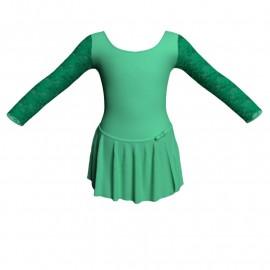 Body danza con gonnellino maniche lunghe e inserto SK515LPL405T