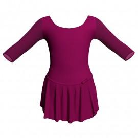 Body danza con gonnellino maniche 3/4 e inserto SK515LPL406T