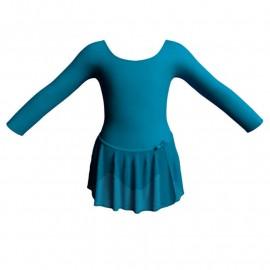 Body danza con gonnellino in chiffon maniche lunghe SK515LCC405