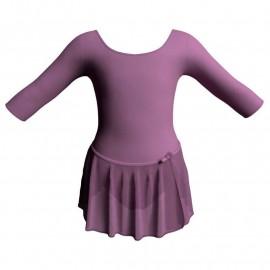 Body danza con gonnellino in chiffon maniche 3/4 SK515LCC406