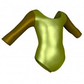 Body danza in lurex maniche 3/4 con inserto PXC406T