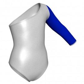 Body danza in lurex senza maniche con inserto PXL999T