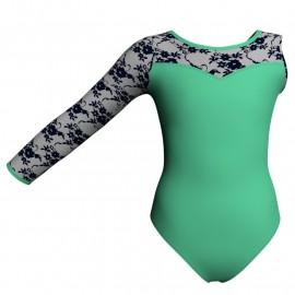 Body danza bicolore Monospalla con inserto belen pro PLH1019SST