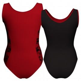 Body danza bicolore senza maniche con inserto belen pro PLH415