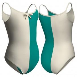 Body danza bicolore bretelle PLD2615