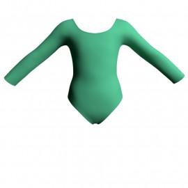 Body danza bicolore maniche lunghe PLK405