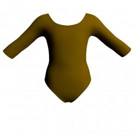 Body danza bicolore maniche 3/4 PLK406