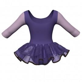 Tutu danza maniche 3/4 con inserto SK1001LCS406T