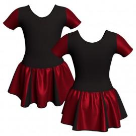 Vestito danza con gonnellino in lurex manica corta e inserto SK302LXX1008T
