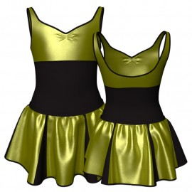 Vestito danza con gonnellino in lurex senza maniche e inserto SK302LXX239