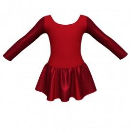 Vestito danza con gonnellino in lurex maniche lunghe e inserto SK302LXX405T