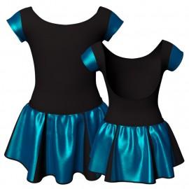 Vestito danza con gonnellino in lurex maniche aletta e inserto SK302LXX414T