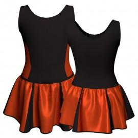 Vestito danza con gonnellino in lurex senza maniche e inserto SK302LXX415
