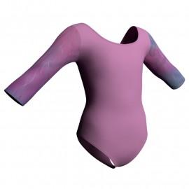Body danza maniche 3/4 con inserto in lurex PLX406T
