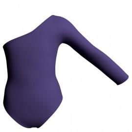 Body danza bicolore monospalla PLK999