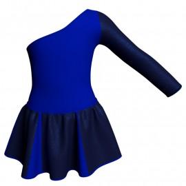Vestito danza con gonnellino in lurex senza maniche e inserto SK302LXX999T