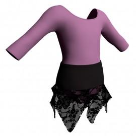 Body danza con gonna maniche 3/4 SK308LCL406