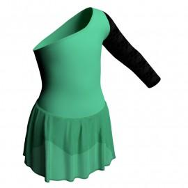 Body danza senza maniche con inserto belen pro e gonnellino in chiffon SK1LBC999T