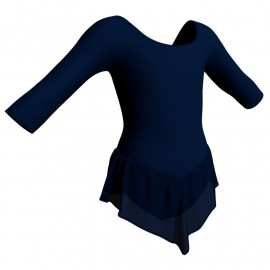 Body danza con gonnellino in chiffon maniche 3/4 SK714LCC406
