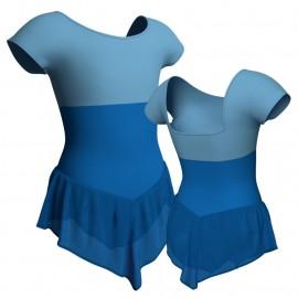 Body danza con gonnellino in chiffon maniche aletta e inserto SK714LCC231