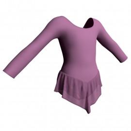 Body danza con gonnellino in chiffon maniche lunghe SK714LCC405