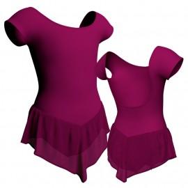Body danza con gonnellino in chiffon maniche aletta SK714LCC414