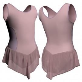 Body danza con gonnellino in chiffon senza maniche e inserto SK714LCC415