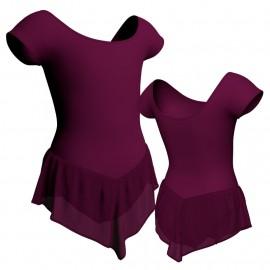 Body danza con gonnellino in chiffon maniche aletta SK714LCC408