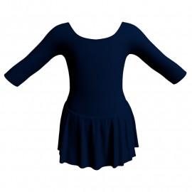 Body danza con gonnellino maniche 3/4 SK1LCL406
