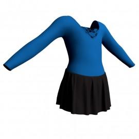 Body danza maniche lunghe con inserto belen pro e gonnellino SK1LBL2532
