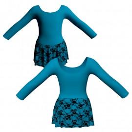 Body danza gonnellino in belen pro maniche lunghe SK1LCB405