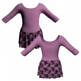 Body danza gonnellino in belen pro maniche 3/4 SK1LCB406