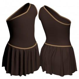 Body danza con gonnellino monospalla SK2LCL1020