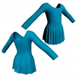 Body danza con gonnellino maniche lunghe SK2LCL405