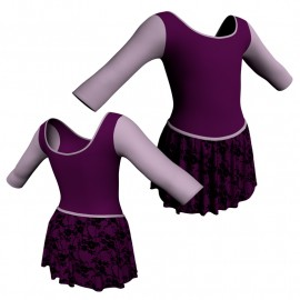 Body danza con gonnellino in belen pro maniche 3/4 e inserto SK2LCB406T