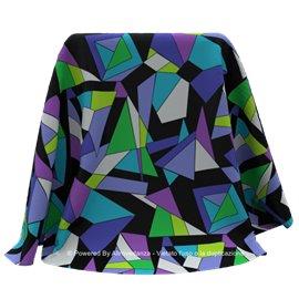 Lycra Triangles | Colore LF56B - Blue