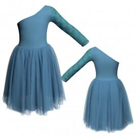 Degas danza senza maniche con inserto in rete o pizzo DAA999T
