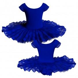 Tutù ballerina professionale maniche aletta con inserto in rete o pizzo TUT-P408T