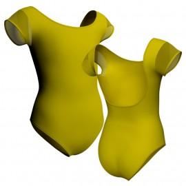 Body danza maniche aletta con inserto in rete o pizzo PLP414T
