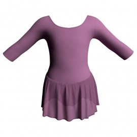 Body danza maniche 3/4 con gonnellino SK1LCC406