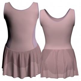 Body danza senza maniche con inserto e gonnellino SK1LCC415